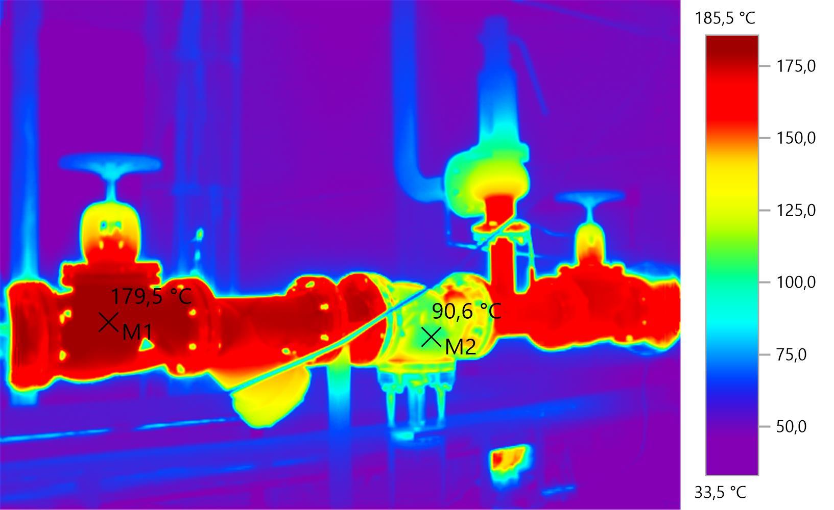 pomiar termowizyjny rurociągu